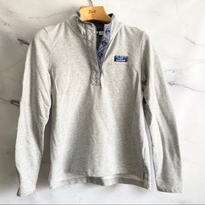L.L. Bean Gray Chambray Pullover Sweater
